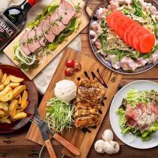 肉宴会におすすめ♪飲み放題付肉バルコース3時間2980円~