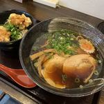 ねこまた - 料理写真:特製醤油ラーメンとミニ鶏天丼セット