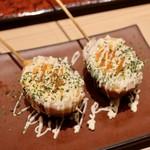 串焼き・野菜巻き工房 ひょーげもん - 半熟卵のベーコン巻き串