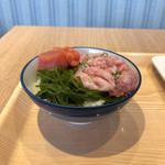 118629397 - めかぶネギトロたらこ丼(自作)