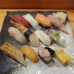 魚力海鮮寿司 - 特盛り海鮮握り12貫
