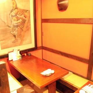 団体のお客様には人数にあわせた各個室(4名~60名)があります。