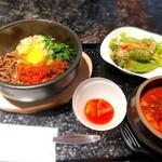 118631053 - 陶焼ビビンバと豆腐ジャンスープ