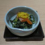 日本酒スローフード 方舟 - 信州サーモンと春菊の利休和え