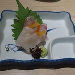 日本酒スローフード 方舟 - 鮮魚三種盛り合せ