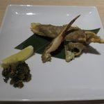 日本酒スローフード 方舟 - ずわい蟹の蟹味噌焼き