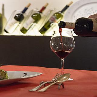 厳選したイタリアワインと自慢の一皿とのマリアージュもご提案♪