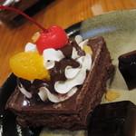 11864698 - ケーキセットのチョコレートケーキ 11.11.30.