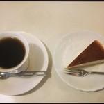 やしろ - ホットコーヒーとチーズケーキ