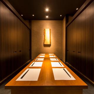 《完全個室完備》プライベートなひと時に最適な個室あります