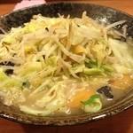 京橋タンメン - タンメンの麺大盛り!