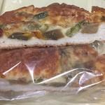 和良自由が丘工房&WARA CAFE - 米粉ピザ-断面
