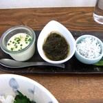 階段ノ上ノ食堂 - 美味しいお豆腐ともずく、しらす。