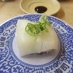 無添くら寿司 - ヤリイカ、天然物ですがやや生臭さが気になりました。