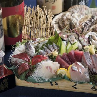 産地直送の海鮮を、赤字覚悟のお値段で提供しております◎