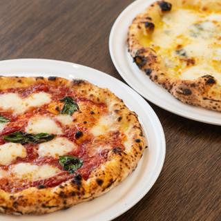 クセになる新食感◎北海道の小麦粉を使用した自慢のピザ♪