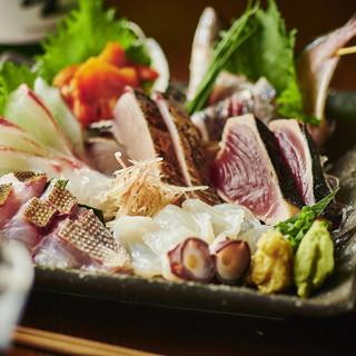 厳選!新鮮!自慢の鮮魚を刺身盛り合わせや様々な一品料理で♪