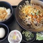 ゆで太郎  - 料理写真:朝そば(納豆)360円、クーポンで大盛無料(2019.9.25)