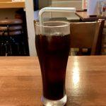 SUNAO - カシミルセット(キーマ、ほうれん草チキン) ¥900 のアイスコーヒー