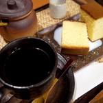 茶房つるや - カステラ コーヒーセット