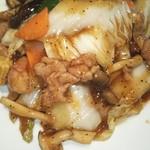 118694787 - 19/10 白菜とキノコ、豚肉の黒胡椒炒め:700円