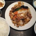 118694802 - 19/10 白菜とキノコ、豚肉の黒胡椒炒め:700円