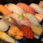 江戸銀 - 料理写真:江戸銀おすすめ(特選旬の握り寿司)厳選された素材でお出ししております