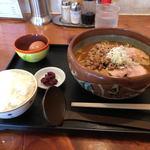 らーめんハウス BunBun - 料理写真:肉みそラーメン、ランチセット