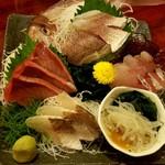酒菜食彩 七福 - 三種盛合せ
