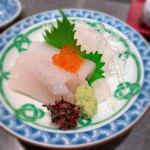 118705371 - お寿司の前にいただいたイカの刺身 フレッシュ!