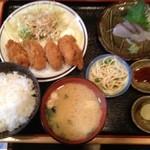 呑喰処 縁 - 日替わり定食 カキフライ