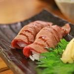 和食日和 おさけと - 和牛の炙り寿司
