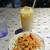 インドラディップ - 料理写真:サラダとマンゴーラッシー