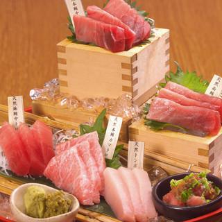 《名物大間のマグロ!》贅沢マグロの宴会コースは2000円~!