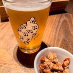 118729054 - 臺虎精釀のビール (塩キャラメルナッツはお通し)