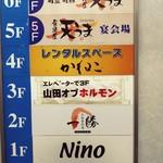 山田 オブ ホルモン - エレベーター内の様子。
