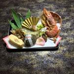池富 - お祝い料理八寸 鮎の塩焼きをメインに・・
