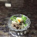 池富 - 丹波牛の令しゃぶしゃぶ豆苗・水菜・木綿豆腐を添えて