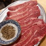 ホルモン鍋 暖 - 牛ツラミ