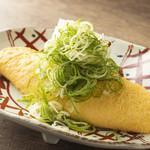 三木鶏卵さんのだし巻き和風オムレツ ~九条葱と紅ショウガ~