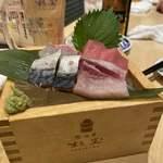 鮨・酒・肴 杉玉 - 欲張りな刺身4点盛り(2人前) ¥299×2