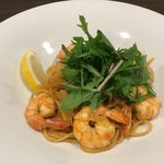 Carbone - 海老と水菜のアメリケーヌ リングイネ