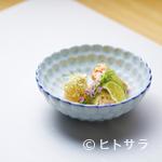 鮨 つむぎ - 繊細な職人技が光る『蟹の味噌和え昆布巻きと牡丹海老の昆布〆』