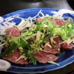 菅紀家 - 牛肉のたたき