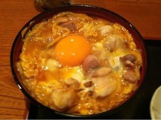 しゃもきち - 軍鶏の親子丼のアップ