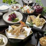 天ぷら つな八 - 季節メニュー 扇