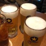 118762296 - 生ビールと烏龍茶