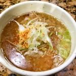 麺処 蓮海 - 塩つけめんスープ