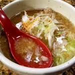 麺処 蓮海 - 背脂
