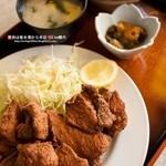 若山食堂 - とり唐揚げ定食600円